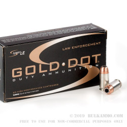 1000 Rounds of .45 ACP Ammo by Speer - 230gr JHP