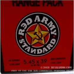 180 Rounds of 5.45x39mm Ammo by Red Army Standard - 69gr FMJ