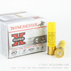 25 Rounds of 20ga Ammo by Winchester - 7/8 ounce #4 Shot (Steel)