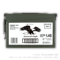 420 Rounds of 5.56x45 XM855 Ammo by Federal Packed in Military Ammo Can - 62gr FMJ