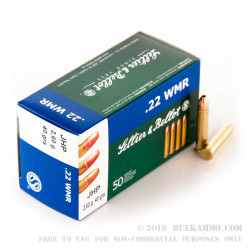 1500 Rounds of .22 WMR Ammo by Sellier & Bellot - 40gr JHP