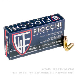 50 Rounds of .40 S&W Ammo by Fiocchi - 170gr FMJ