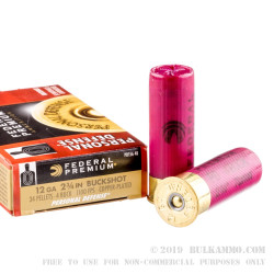 5 Rounds of 12ga Ammo by Federal Premium Personal Defense - #4 Buck - 34 Pellet