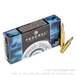 20 Rounds of 7 mm Rem Mag Ammo by Federal - 150gr SP