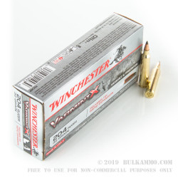 20 Rounds of .204 Ruger Ammo by Winchester - 32 gr Polymer Tip