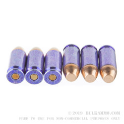 50 Rounds of .40 S&W Ammo by Winchester - 180gr FMJ DHS Purple Tinted Case