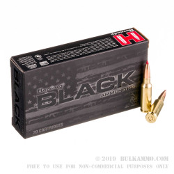 20 Rounds of 6.5mm Grendel Ammo by Hornady Black - 123gr ELD Match