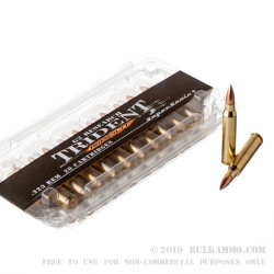 20 Rounds of .223 Ammo by G2 Research Trident - 65gr HP