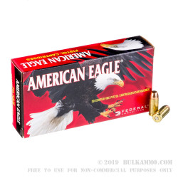50 Rounds of .40 S&W Ammo by Federal - 165gr FMJ