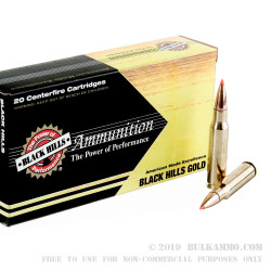 20 Rounds of .308 Win Ammo by Black Hills Gold Ammunition - 150gr SST