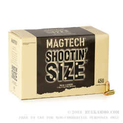 450 Rounds of 9mm Ammo by Magtech - 115gr FMJ