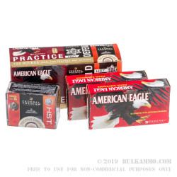 120 Rounds of .380 ACP Ammo by Federal - 95GR FMJ & 99GR HST