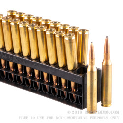 20 Rounds of 25-06 Remington Ammo by Remington - 120gr PSP