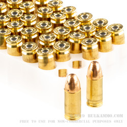 50 Rounds of 9mm Ammo by Federal - 124gr FMJ