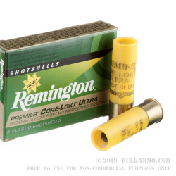 5 Rounds of 20ga Ammo by Remington Premier Core-Lokt Ultra - 260gr Bonded Sabot Slug