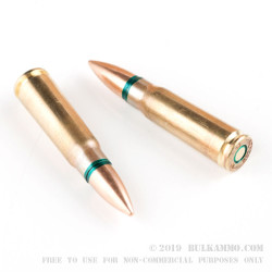 20 Rounds of 7.62x39mm Ammo by Arsenal - 122gr FMJ