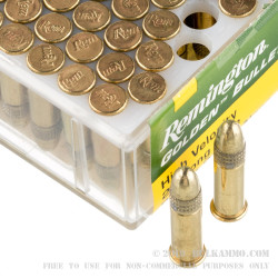 5000 Rounds of .22 LR Ammo by Remington Golden Bullet - 40gr Copper Plated Round Nose