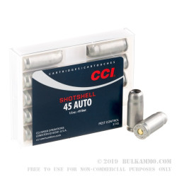 10 Rounds of .45 ACP Ammo by CCI - 1/3 ounce #9 shot