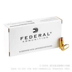 1000 Rounds of .45 ACP Ammo by Federal - 185gr JHP