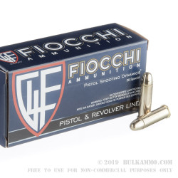 50 Rounds of .38 Spl Ammo by Fiocchi - 130gr FMJ
