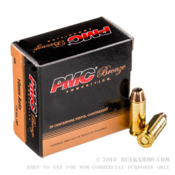 25 Rounds of 10mm Ammo by PMC - 170gr JHP