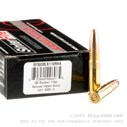 500 Rounds of .300 AAC Blackout Ammo by SinterFire - 110gr Lead-Free Frangible