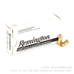 250 Rounds of .380 ACP Ammo by Remington - 95gr MC