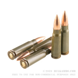 500  Rounds of 7.62x39mm Ammo by Brown Bear - 123gr FMJ