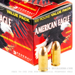 500  Rounds of .45 ACP Ammo by Federal American Eagle - 230gr FMJ