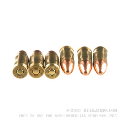 100 Rounds of 9mm Ammo by MBI - 124gr FMJ