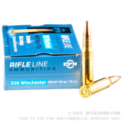 500  Rounds of .308 Win Ammo by Prvi Partizan - 165gr PSP