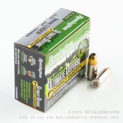20 Rounds of 9mm Ammo by Remington Ultimate Defense Compact- 124gr JHP