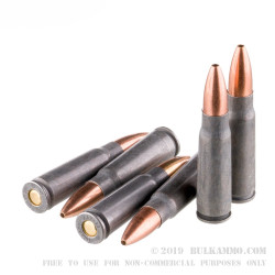 20 Rounds of 7.62x39mm Ammo by Tula - 122gr HP