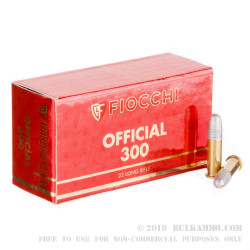 50 Rounds of .22 LR Ammo by Fiocchi Super Match - 40gr RN