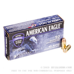 50 Rounds of .45 ACP Ammo by Federal American Eagle C.O.P.S. - 230 gr FMJ