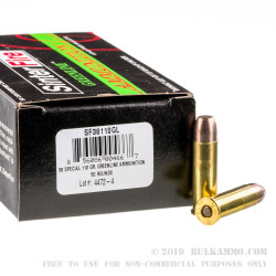 50 Rounds of .38 Spl Ammo by SinterFire GreenLine - 110gr Frangible
