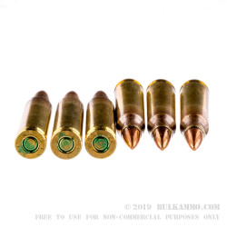 50 Rounds of 5.56x45 Ammo by Magtech/CBC - 55gr FMJBT