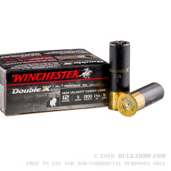 "10 Rounds of 12ga 3"" Ammo by Winchester Double X Turkey Load - 1 3/4 ounce #5 shot"