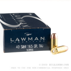 50 Rounds of .40 S&W Ammo by Speer - 165gr TMJ