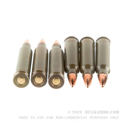 50 Rounds of .223 Ammo by Hornady Steel Cased Match - 55gr HP