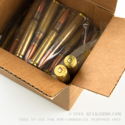 50 Rounds of .50 BMG Ammo by Lake City - 660 gr FMJ
