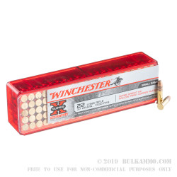 100 Rounds of .22 LR Ammo by Winchester - 37gr CPHP - High Velocity