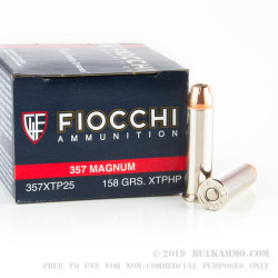 500  Rounds of .357 Mag Ammo by Fiocchi - 158gr JHP XTP