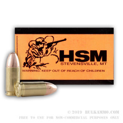 50 Rounds of Remanufactured 9mm Ammo by Hunting Shack - 115gr TMJ