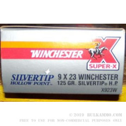 50 Rounds of 9x23mm Winchester Ammo by Winchester - 125gr JHP