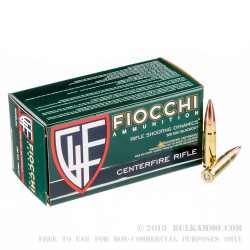 50 Rounds of .300 AAC Blackout Ammo by Fiocchi - 150gr FMJBT