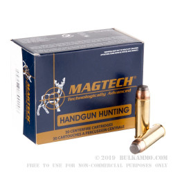 20 Rounds of .454 Casull Ammo by Magtech - 240gr SJSP