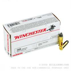 50 Rounds of .38 Spl Ammo by Winchester - 150gr LRN