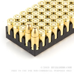 500 Rounds of 9mm Ammo by Sellier & Bellot Battle Pack - 115gr FMJ