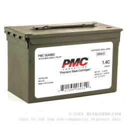 100 Rounds of .50 BMG Ammo by PMC in Ammo Can - 660 gr FMJBT